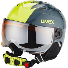UVEX Junior Visor Pro Helm Kinderen geel/grijs